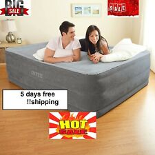 intex Comfort Plush Elevated Dura-Beam Airbed with Internal Electric Pump,Queen