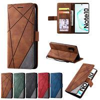 Coque pour Samsung Galaxy Note 10+ Lite 9 8 Magnétique Étui Portefeuille en cuir