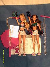 Barbie Y Teresa Chicas Pom Pom Divas Mosca muñecas como nuevo desde 2006