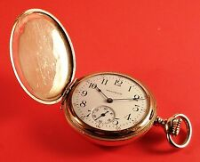"Waltham Pocket Watch ""Ladies"" 15 Jewels 10K Gold Fill Hunter Case Ca.1905 - 1906"