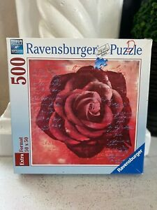 """Ravensburger 'Red Rose' 500 Piece Jigsaw Puzzle 19.7""""x 19.7""""  2007 By Anna Flore"""