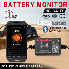 Vehicle Battery Monitor via bluetooth 4.0 Voltage Meter Tester w/ auto Alarm 12V