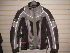 OLYMPIA Moto Sports LADIES AIRGLIDE 4 Motorcycle Jacket WJ212P XL Black/Pewter