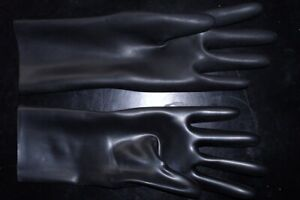 Rubber Gummi Latex black sexy casual party fashion sports ladies gloves 0.4mm