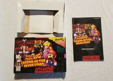 Super Mario RPG SNES Aythentic box and manual. NO GAME