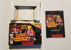 Super Mario RPG SNES Aythentic box and manual. NO GAME