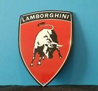 VINTAGE LAMBORGHINI PORCELAIN GAS AUTO SERVICE ITALIAN DEALERSHIP SIGN