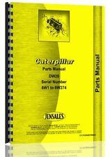 Caterpillar DW20 Tractor Parts Manual