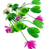 Kunstpflanze Aquariumpflanzen Künstliche Wasserpflanzen Fish Gras-Lotus w/