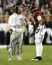 Nick Saban & Jalen Hurts Alabama Autographed 8x10 Signed Photo Reprint