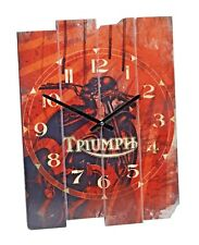 GENUINE TRIUMPH MOTORCYCLE WALL CLOCK MWCS16207