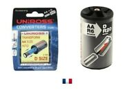 2 convertisseurs de piles LR6/AA en LR20/D - RA104589 UNIROSS CONVERTER D SIZE