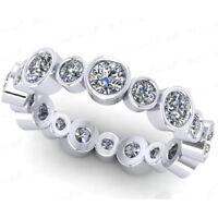 Memory Diamant Brillant Ring 2.00 ct IF-SI1 D-H 585 14K Weißgold Alle Ringgrößen
