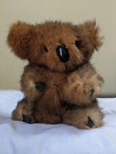"Vintage Real Kangaroo Fur Koala Bear- Australian 8"" Tall"