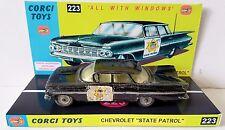Corgi Toys 223 Chevrolet Impala State Patrol Diecast Model Car & Custom Display