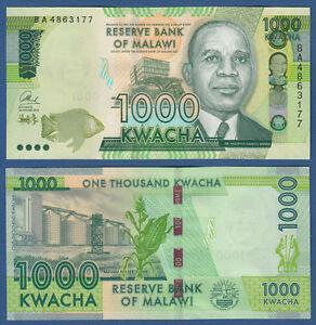 MALAWI  1000 Kwacha 2014 UNC  P. 67 a