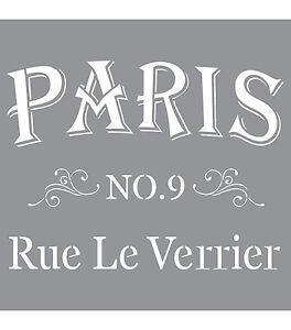 Parisian Street, American Decor Stencil, 12 x 12, #ADS12