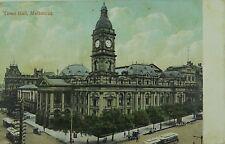 .MELBOURNE , TOWN HALL VICTORIA 1909 POSTCARD