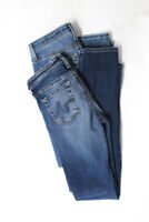 AG Adriano Goldschmied Womens Skinny Jeans Blue Size 24 25 Lot 2