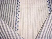 Ralph Lauren LCF65240F Carleigh Embroidered Ticking Denim Blue Upholstery Fabric