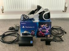 Sony PlayStation VR Headset Camera Bundle Boxed in Excellent Condition