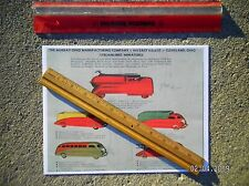 Steelcraft Murray Streamlined Viktor Schreckengost Toy Trucks 1940 Drawing