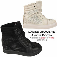 Wedge Lace Up Unbranded Ankle Women's Boots