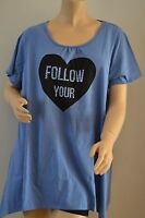 Ladies New Studded Waterfall Top Tunic Size 18 PLUS SIZE 20 22 24 26 28 FREE P&P