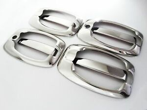 Peugeot Boxer chrome door handle 2006 + cover 4 door S.STEEL 8 pcs