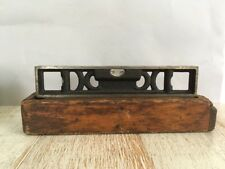Vintage Tool!  The L S Starrett Co Anthol Mass Level Tool In Wooden Box!