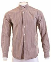 TIMBERLAND Mens Shirt Large Multicoloured Check Cotton Slim Fit  DO12