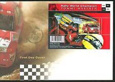 FINLAND FDC - RALLY WORLD CHAMPION Tommi Makinen M/S 2000
