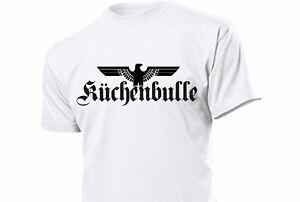 Fun T-Shirt Küchenbulle mit Adler Gr S-XXL WH WK2 WWII Kitchenbull Eagle