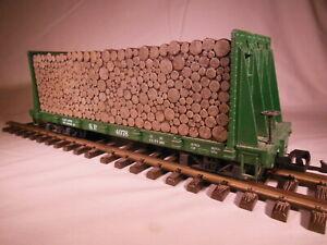 4078 LGB SP Pulp Wood Flatcar G Scale
