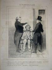 """Lithographie de DAUMIER, pl.26 de la série """"Les Philantropes du Jour"""""""