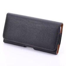 Black leather case belt clip for Huawei Ascend Mate MT1-U06 6.1 f