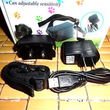 New chargeable Dog Anti Bark Collar Electronic Stop No Barking Pet Training c23