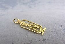 18CT SOLID YELLOW GOLD CARTOOCHE PENDANT-(28mmx8mm) 2.2gr.