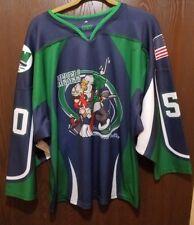 Blue & Green Kensington Valley Rebels Hockey Jersey Man Small