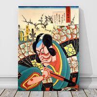 "Japanese Kabuki Art CANVAS PRINT 36x24"" Danjuro as Otokonsuke ~ Kunichika"