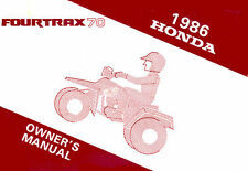 1986 Honda 70 FourTrax Owner's Manual - pdf download