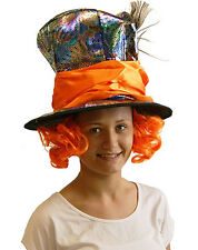 Alice in Wonderland/World Book Day MAD HATTER HAT WITH ATTACHED WIG & HAT BAND