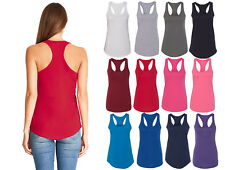 Womens RACER BACK Tank Top Light Weight Casual Basic A-Shirt Yoga Gym Workout