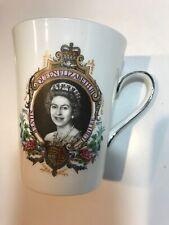 Queen Elizabeth II Silver Jubilee 1952-1977 Cup Mug  Royal Sutherland England
