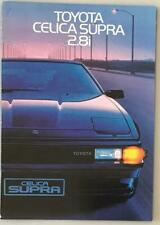 TOYOTA CELICA SUPRA 2.8i Car Sales Brochure 1984 FINNISH TEXT