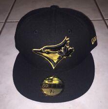 timeless design 126cd 95e62 TORONTO BLUE JAYS Rare NEW ERA 2016 Metallic Gold Black 59Fifty Hat Cap 7 1