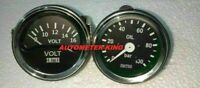 "Smiths Replica 52 mm 2 1/16"" Volt Gauge+ Oil pressure gauge Mechanical 1/8"" NPT"