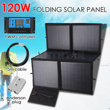 120W 12V Folding Solar Panel Silicon Blanket Flexible Vehicle Camping Kit RV OZ