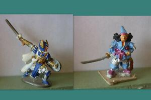 Lot de 2 Figurines en métal  - Jeux de rôle - Peintes, sur socle - N°11
