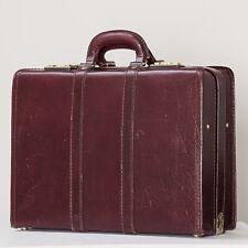 Presto Burgundy Vintage Attache Suitcase
